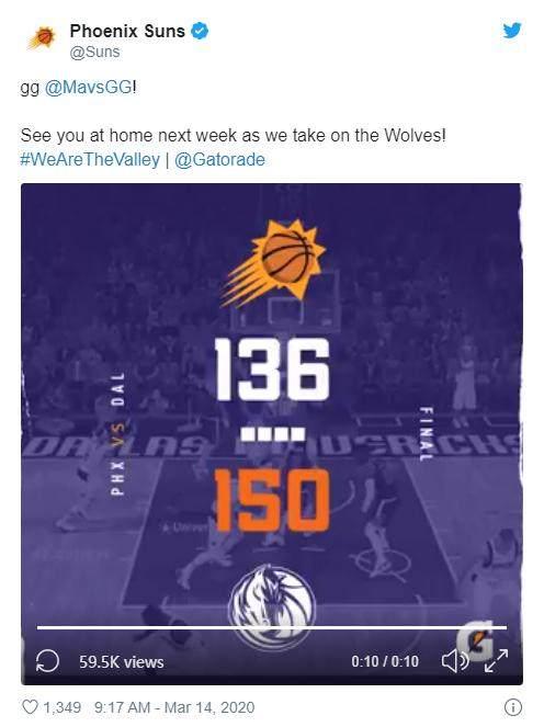 """太阳开辟NBA""""第二战场"""",虚拟世界中继续常规赛"""