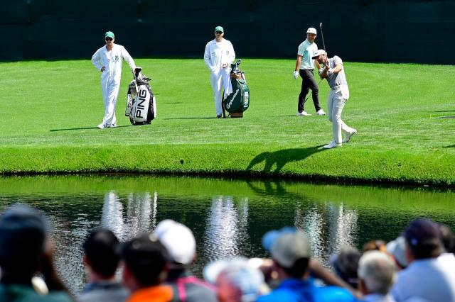 2018Masters-Dustin Johnson & Lin Yuxin.jpg