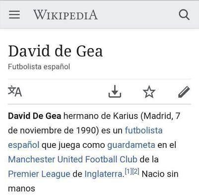 德赫亚的西语维基百科被用户恶意篡改.png
