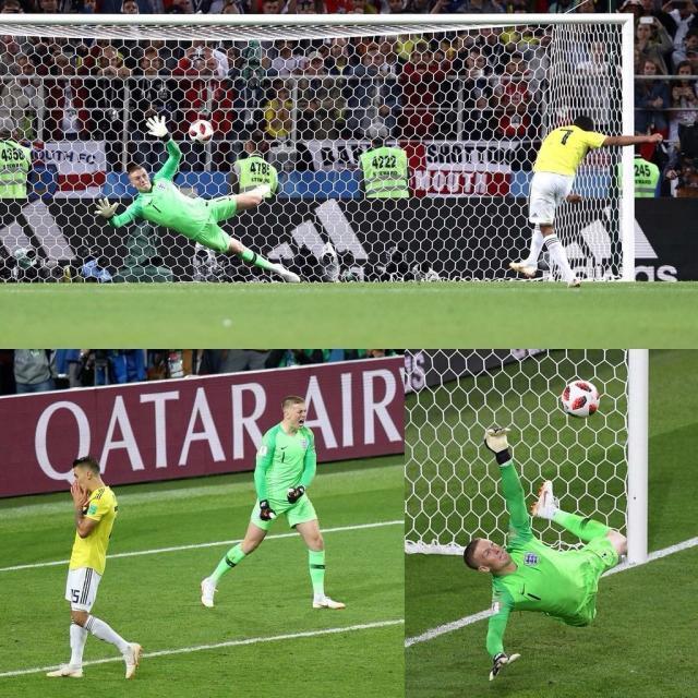 门将皮克福德还是自1998年大卫·希曼以来,第一位在世界杯点球大战中扑出点球的英格兰门将。2.jpg