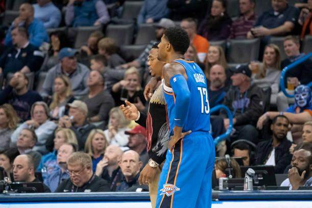 paul-george-of-the-oklahoma-city-thunder-talks-to-an-injured-russell-picture-id1059405162.jpg