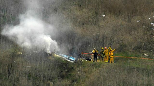 科比遇难细节曝光:9人确定遇难 事故或与天气有关