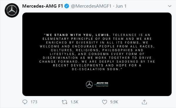 《【天辰平台总代】汉密尔顿不是一个人战斗 面对种族歧视F1不再沉默》