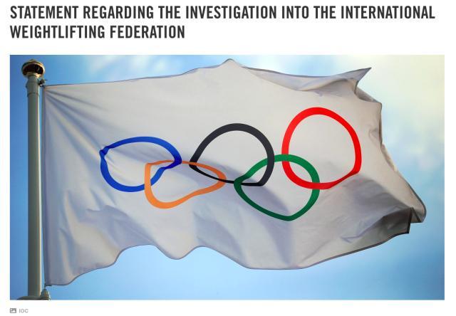 《【天辰平台最高奖金】IOC回应麦克拉伦调查 举重奥运项目地位或受影响》