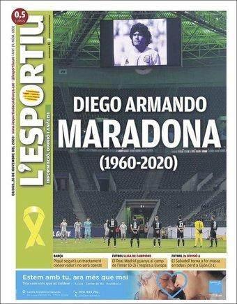 《【天辰平台最高奖金】全球媒体悼念马拉多纳:10号迭戈,离开人世》