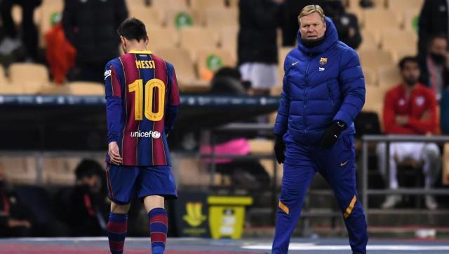 《【天辰娱乐代理】一周两加时赛巴萨痛失西超杯,梅西首度被罚下》